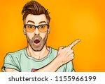amazed fashionable guy in... | Shutterstock . vector #1155966199