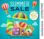 sale banner design template.... | Shutterstock .eps vector #1155967909