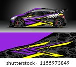 car decal design vector.... | Shutterstock .eps vector #1155973849
