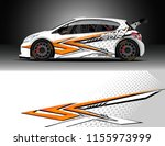 car decal design vector.... | Shutterstock .eps vector #1155973999