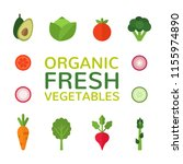 organic fresh vegetables.... | Shutterstock .eps vector #1155974890