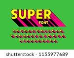 comics style font  alphabet... | Shutterstock .eps vector #1155977689