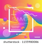 electronic music club summer... | Shutterstock .eps vector #1155980086