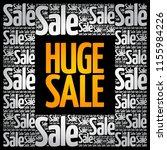 huge sale word cloud collage ...   Shutterstock .eps vector #1155984226