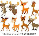 cartoon deer and moose... | Shutterstock .eps vector #1155984319