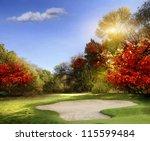 Autumn Foliage At The Golf...