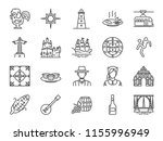 portugal icon set. included... | Shutterstock .eps vector #1155996949