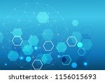 hexagonal abstract background.... | Shutterstock .eps vector #1156015693