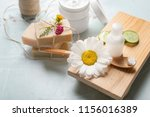 composition with natural... | Shutterstock . vector #1156016389
