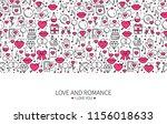 st valentine's day line banner. ... | Shutterstock .eps vector #1156018633