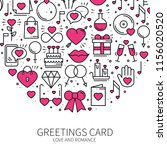 circle with love symbols in... | Shutterstock .eps vector #1156020520