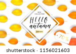 trendy and elegant autumn... | Shutterstock .eps vector #1156021603