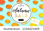 trendy and elegant autumn... | Shutterstock .eps vector #1156021609