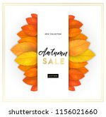 trendy and elegant autumn... | Shutterstock .eps vector #1156021660