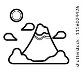 mountain of fuji icon   Shutterstock .eps vector #1156024426