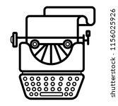 typewriter icon vector | Shutterstock .eps vector #1156025926