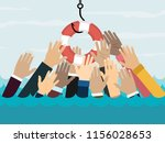 businessmans getting lifebuoy ... | Shutterstock .eps vector #1156028653