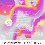 electronic music summer club... | Shutterstock .eps vector #1156028779