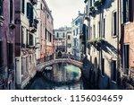 beautiful view of water street... | Shutterstock . vector #1156034659