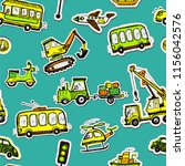 funny cars seamless pattern.... | Shutterstock .eps vector #1156042576