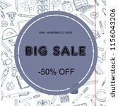back to school sale flyer card. ... | Shutterstock .eps vector #1156043206