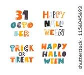 happy halloween. 31 october.... | Shutterstock .eps vector #1156045693