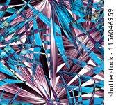 palm monstera seamless pattern. ... | Shutterstock .eps vector #1156046959