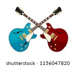guitar battle concept. two...   Shutterstock .eps vector #1156047820