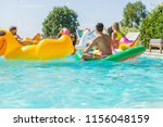 multiracial group of friends... | Shutterstock . vector #1156048159