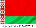 belarus fabric flag waving 3d... | Shutterstock . vector #1156057819