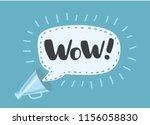 wow   message bubble speech... | Shutterstock .eps vector #1156058830
