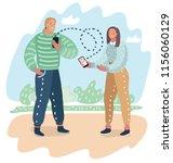 dating application on mobile... | Shutterstock .eps vector #1156060129