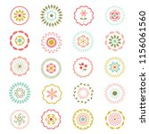 pastel vector embroidered... | Shutterstock .eps vector #1156061560