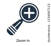 zoom in icon vector isolated on ...   Shutterstock .eps vector #1156067113