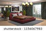 bedroom interior. 3d... | Shutterstock . vector #1156067983