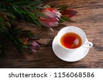 safari sunset flowers and cups... | Shutterstock . vector #1156068586