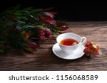 safari sunset flowers and cups... | Shutterstock . vector #1156068589