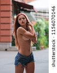 hot sexy redhair woman in the... | Shutterstock . vector #1156070146