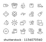 set of sending product icons  ... | Shutterstock .eps vector #1156070560