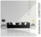 modern living room design  ... | Shutterstock .eps vector #1156071019