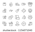 set of sending product icons  ... | Shutterstock .eps vector #1156071040