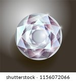 shiny white realistic diamond.... | Shutterstock .eps vector #1156072066