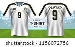 soccer jersey and sportswear t... | Shutterstock .eps vector #1156072756