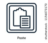 paste icon vector isolated on...   Shutterstock .eps vector #1156073170