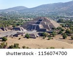 mexican pyramids and hot air... | Shutterstock . vector #1156074700