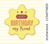 happy birthday design template. ... | Shutterstock .eps vector #1156074820