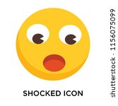 shocked icon vector isolated on ... | Shutterstock .eps vector #1156075099