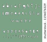carved alphabet number and... | Shutterstock .eps vector #1156076329