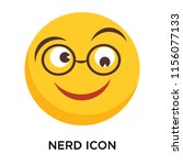 nerd icon vector isolated on... | Shutterstock .eps vector #1156077133