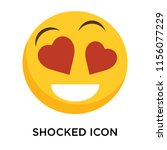 shocked icon vector isolated on ... | Shutterstock .eps vector #1156077229